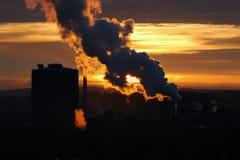 ατμοσφαιρική ρύπανση Στοκ Φωτογραφία