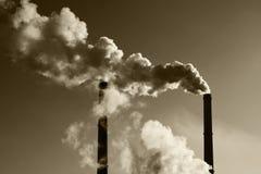 ατμοσφαιρική ρύπανση στοκ φωτογραφία με δικαίωμα ελεύθερης χρήσης