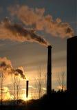 ατμοσφαιρική ρύπανση Στοκ Φωτογραφίες