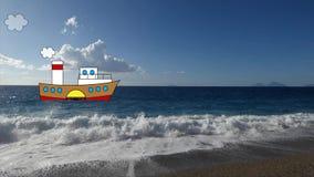 Ατμόπλοιο στη θάλασσα φιλμ μικρού μήκους