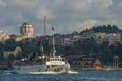 Πορθμείο Storskaer Στοκχόλμη βαρκών ατμού Στοκ Φωτογραφίες