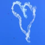 ατμός ιχνών καρδιών Στοκ Εικόνα