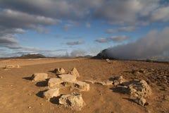 Ατμός που βγαίνει από τη γη Στοκ φωτογραφία με δικαίωμα ελεύθερης χρήσης