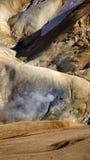 Ατμός Kerlingarfjöll που δραπετεύει το βουνό Στοκ Εικόνες