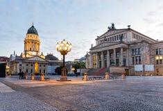 Ατμόσφαιρα βραδιού στο Βερολίνο στοκ εικόνες