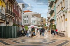 Ατμόσφαιρα οδών στις για τους πεζούς οδούς Faro στοκ εικόνες με δικαίωμα ελεύθερης χρήσης