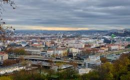 Ατμόσφαιρα φθινοπώρου στη Λυών, Γαλλία Στοκ Εικόνες