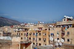 Ατμόσφαιρα Backstreet στην παλαιά πόλη Fes βασίλειων στο Μαρόκο, Αφρική Στοκ Εικόνα