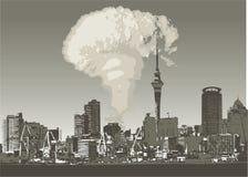 ατομική πόλη grunge ελεύθερη απεικόνιση δικαιώματος