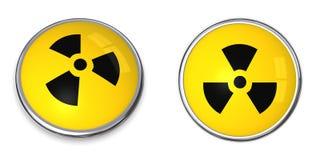 ατομικό πυρηνικό σύμβολο κουμπιών Στοκ εικόνα με δικαίωμα ελεύθερης χρήσης