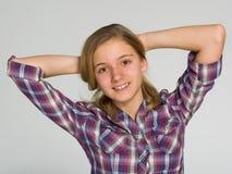 λατρευτός έφηβος κοριτ&sigm Στοκ φωτογραφία με δικαίωμα ελεύθερης χρήσης