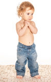 λατρευτό πορτρέτο μωρών Στοκ Εικόνα