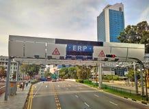 Ατσάλινος σκελετός cErp στη Σιγκαπούρη στοκ φωτογραφίες