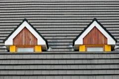 αττικά Windows σοφιτών Στοκ Εικόνα