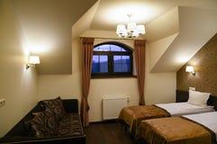 Αττικό δωμάτιο ξενοδοχείου Στοκ Εικόνες