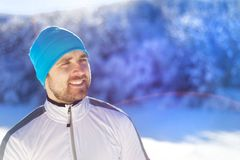 Ατόμων στη χειμερινή φύση Στοκ εικόνες με δικαίωμα ελεύθερης χρήσης