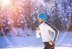 Ατόμων στη χειμερινή φύση Στοκ Εικόνα