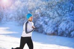 Ατόμων στη χειμερινή φύση Στοκ φωτογραφία με δικαίωμα ελεύθερης χρήσης