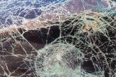 Ατύχημα ρωγμών ανεμοφρακτών στοκ εικόνα