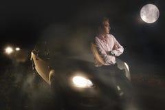 Ατύχημα στη νύχτα Στοκ Φωτογραφία