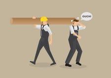 Ατύχημα την ώρα της εργασίας τη διανυσματική απεικόνιση διανυσματική απεικόνιση