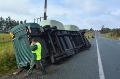 Ατύχημα φορτηγών Στοκ εικόνες με δικαίωμα ελεύθερης χρήσης