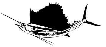 Ατλαντικά sailfish ψάρια ΙΙΙ διάνυσμα ελεύθερη απεικόνιση δικαιώματος