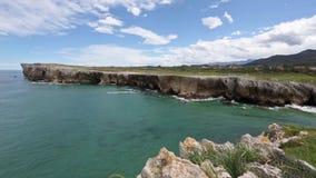Ατλαντική δύσκολη άποψη ακτών, Ισπανία απόθεμα βίντεο