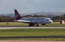 Ατλαντικό airbus της Virgin A320 Στοκ εικόνες με δικαίωμα ελεύθερης χρήσης