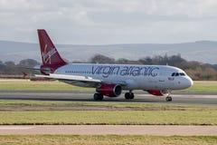Ατλαντικό airbus της Virgin A320 Στοκ εικόνα με δικαίωμα ελεύθερης χρήσης