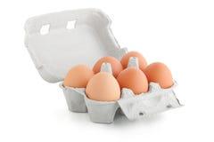 αυγά έξι χαρτοκιβωτίων κιβωτίων Στοκ φωτογραφία με δικαίωμα ελεύθερης χρήσης