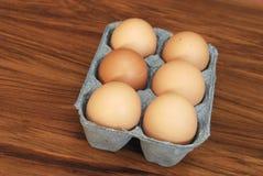 αυγά έξι Στοκ φωτογραφία με δικαίωμα ελεύθερης χρήσης