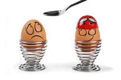 αυγά αστεία Διανυσματική απεικόνιση