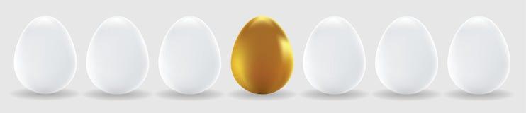 αυγά αυγών χρυσό άσπρο Στοκ Φωτογραφία