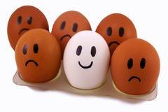 αυγά αυτού του κοτόπουλου με τις εκφράσεις του προσώπου Στοκ εικόνα με δικαίωμα ελεύθερης χρήσης