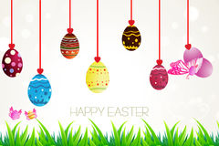 Αυγά ευτυχές Πάσχα Στοκ Εικόνα