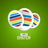 Αυγά, ευτυχές υπόβαθρο Πάσχας Ελεύθερη απεικόνιση δικαιώματος