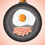 Αυγά και μπέϊκον ελεύθερη απεικόνιση δικαιώματος