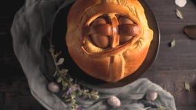 Αυγά και τσάι Πάσχας απόθεμα βίντεο