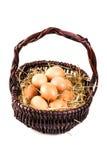αυγά καλαθιών φρέσκα Στοκ φωτογραφίες με δικαίωμα ελεύθερης χρήσης