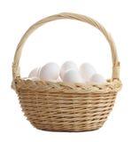 αυγά καλαθιών Στοκ εικόνες με δικαίωμα ελεύθερης χρήσης