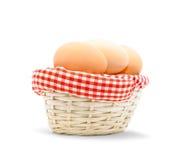 αυγά καλαθιών Στοκ Εικόνα