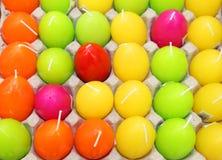 Αυγά κεριών ζωηρόχρωμα Στοκ Φωτογραφία