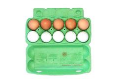 αυγά κοτόπουλου χαρτοκιβωτίων στοκ εικόνα