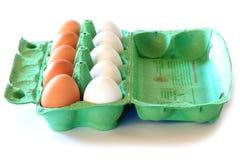 αυγά κοτόπουλου χαρτοκιβωτίων στοκ εικόνες