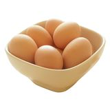 αυγά κύπελλων φρέσκα στοκ εικόνα