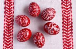 αυγά Πάσχας έξι Στοκ εικόνα με δικαίωμα ελεύθερης χρήσης