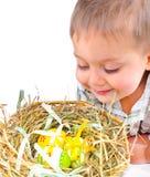 αυγά Πάσχας αγοριών καλα&th Στοκ Εικόνα