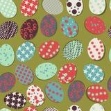 αυγά Πάσχας ανασκόπησης άνευ ραφής Στοκ Εικόνες