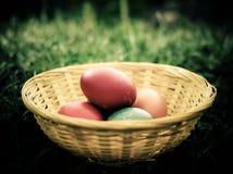 αυγά Πάσχας ανασκόπησης Στοκ Φωτογραφία